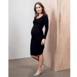 Isabella Oliver Black Long Sleeve Maternity Dress